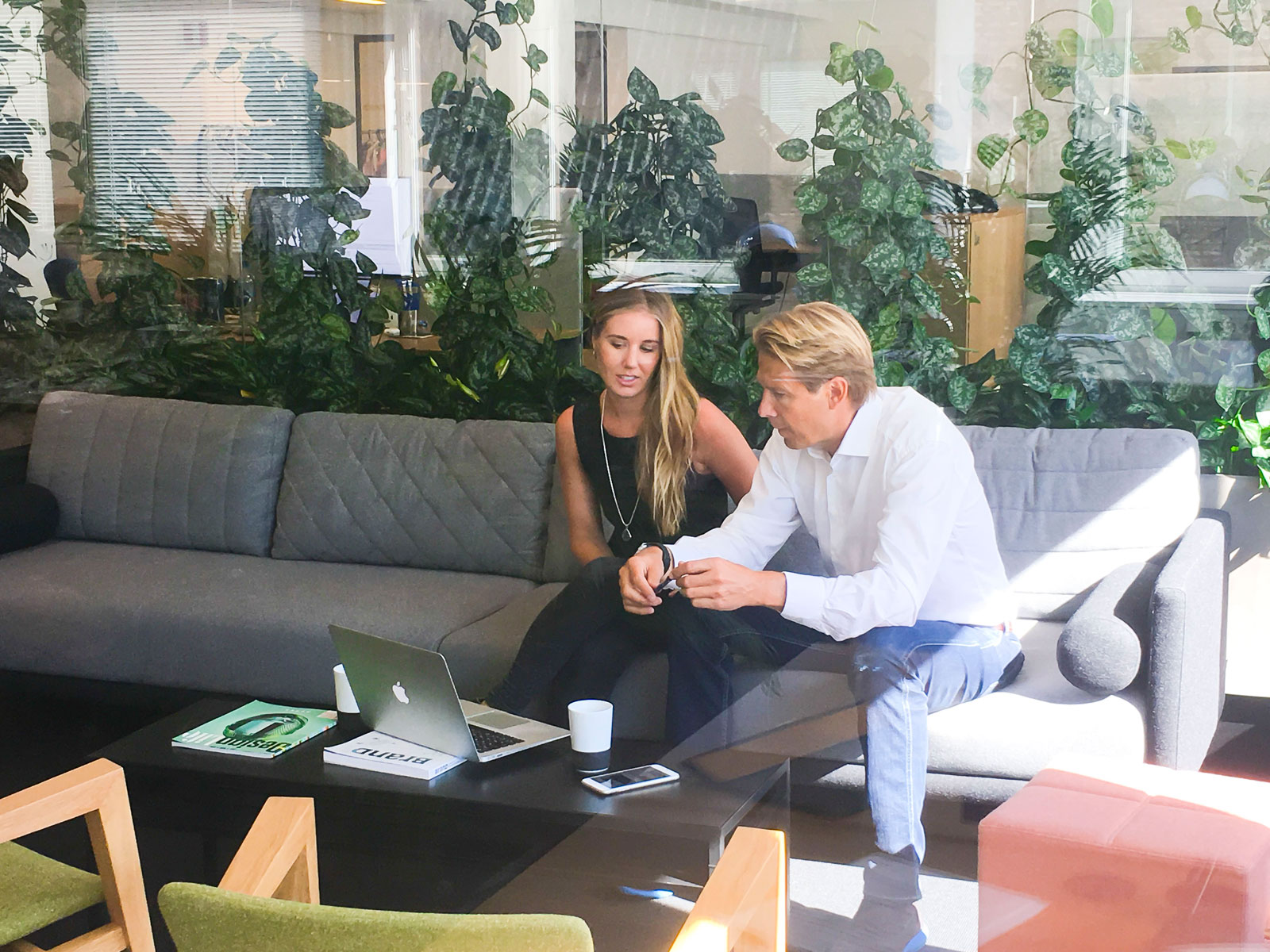 CEO and Co-founder of Gture Rolv-Erik Spilling having a meeting with Gture employee